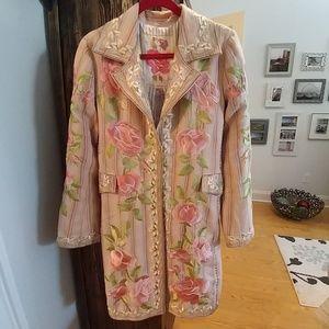Johnny Was Biya Linen blend coat(24hrFLASH FIRM )